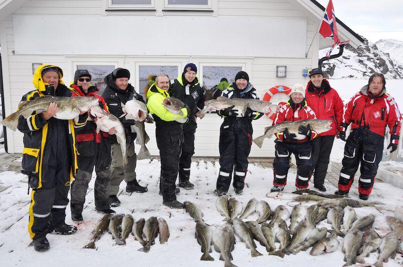 трофей на краю земли-севере Норвегии